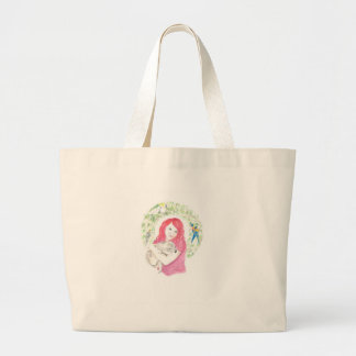 Red with Koala Bear Large Tote Bag