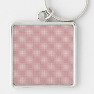 Red With Simple White Dots Keychain