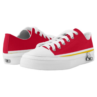 Red with White and Gold Trim Lo-Top
