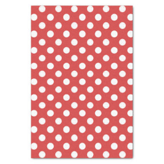 Red With White Polka Dot Tissue Paper