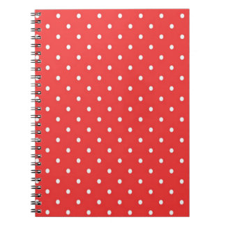 Red with White Polka Dots Notebooks