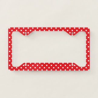 Red With White PolkaDot Licence Plate Frame