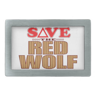 Red Wolf Save Belt Buckles