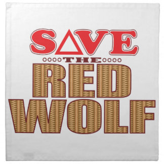 Red Wolf Save Napkin