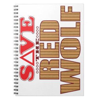 Red Wolf Save Notebook