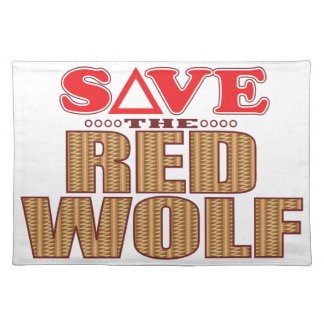 Red Wolf Save Placemat
