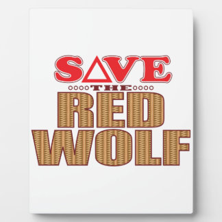 Red Wolf Save Plaque