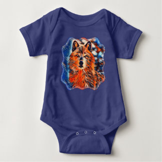 Red Wolf Wolves Wildlife Baby Bodysuit
