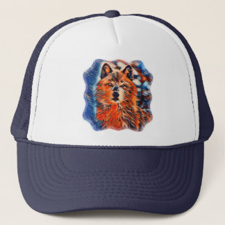 Red Wolf Wolves Wildlife Trucker's Hat