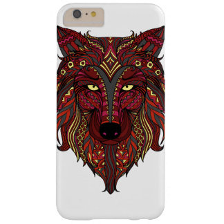 Red Wolf yellow grey head Barely There iPhone 6 Plus Case