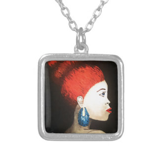 red woman necklace