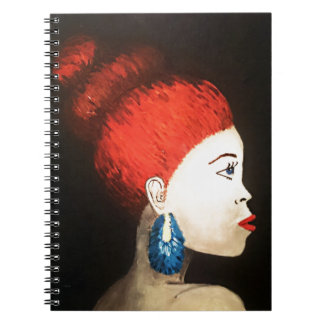 red woman notebook