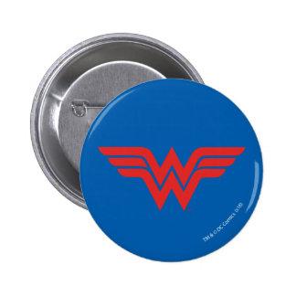 Red Wonder Woman Logo 6 Cm Round Badge
