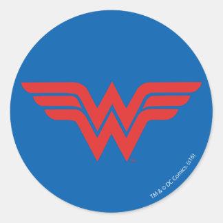 Red Wonder Woman Logo Classic Round Sticker