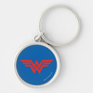 Red Wonder Woman Logo Key Ring