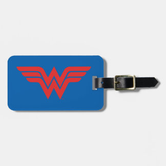 Red Wonder Woman Logo Luggage Tag