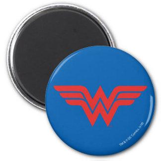 Red Wonder Woman Logo Magnet