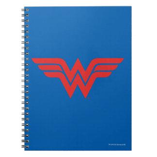 Red Wonder Woman Logo Notebooks