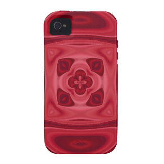 Red wood abstract pattern iPhone 4 case