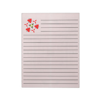 Red wood abstract pattern notepad