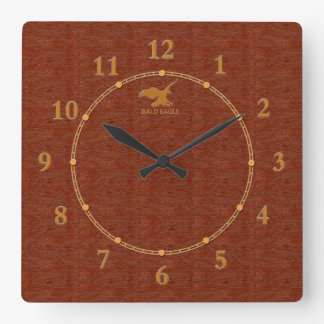 Red Wood Decorative 4-a Modern Wall Clock Sale
