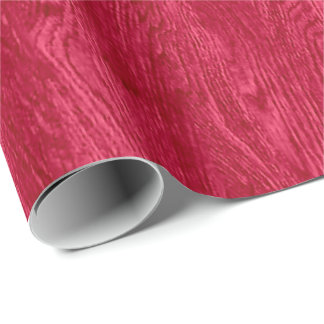 Red Wood Grain Texture Wrapping Paper