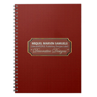 Red Wood Pattern Decorative Modern Notebook