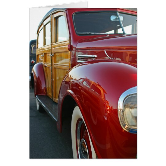 Red Woodie Note Card