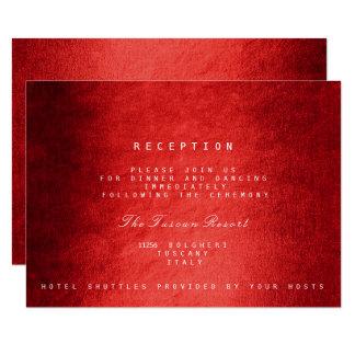 Red Woodland Fall Autumn Vip Wedding Reception 9 Cm X 13 Cm Invitation Card