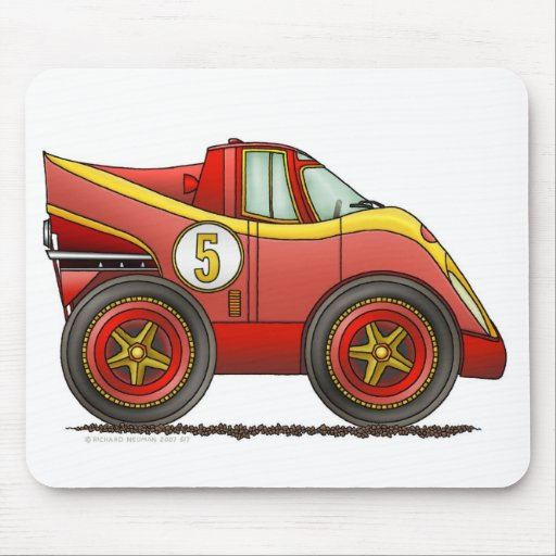 Red World Manufactures Championship Car Mouse Pad