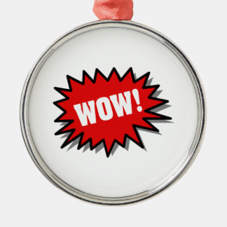 Red Wow Christmas Ornament