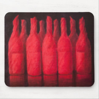 Red wrapped wine 2012 mouse mat