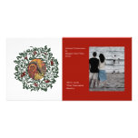 Red Wreath Photo Greeting Card