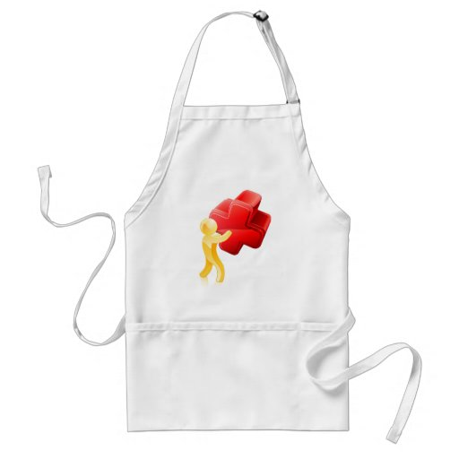 Red X person Apron