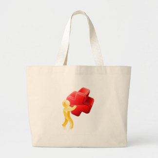 Red X person Tote Bags