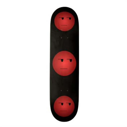 Red Yeah Right Smiley Skate Boards