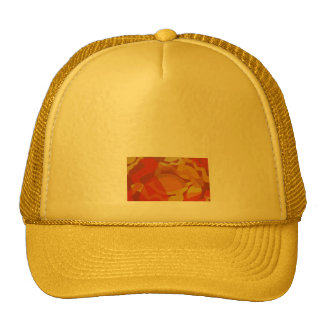 red yellow abstract design cap