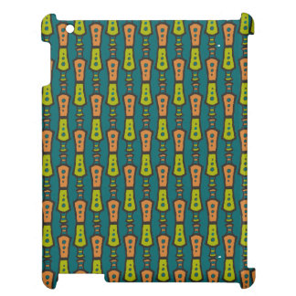 Red, Yellow Abstract on Teal: iPad Savvy Case iPad Case