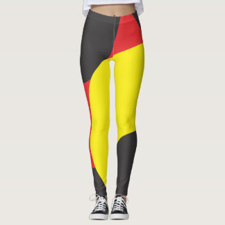 Red Yellow and black pattern leggings