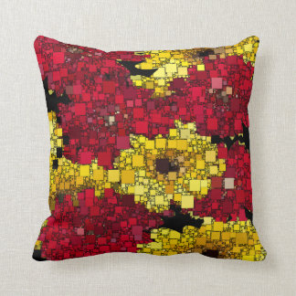 Red, Yellow and Gold Mini Boxes Cushion