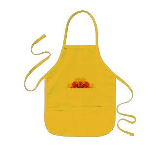 Red yellow-apron kids apron