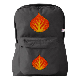 Red & Yellow Aspen Leaf #10 Backpack