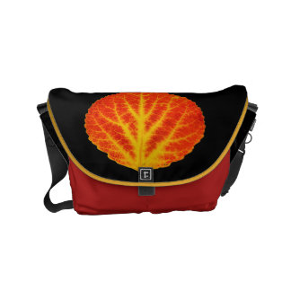 Red & Yellow Aspen Leaf #10 Commuter Bags