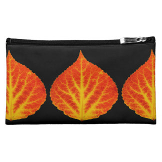 Red & Yellow Aspen Leaf #10 Cosmetic Bag
