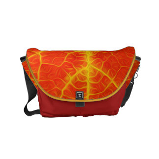 Red & Yellow Aspen Leaf #10 Courier Bags