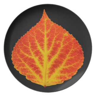 Red & Yellow Aspen Leaf #10 Dinner Plates