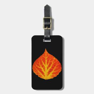 Red & Yellow Aspen Leaf #10 Luggage Tag