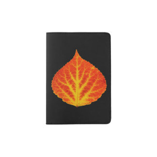 Red & Yellow Aspen Leaf #10 Passport Holder