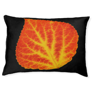 Red & Yellow Aspen Leaf #10 Pet Bed