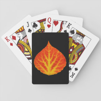 Red & Yellow Aspen Leaf #10 Playing Cards
